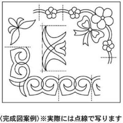 画像1: メッシュパターンシート(キルト図案06リボン)
