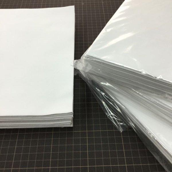 画像1: ポプリン白無地・カットクロス100枚 (1)